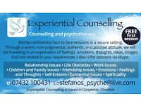 Experiential Person Centred Counselling and Psychotherapy