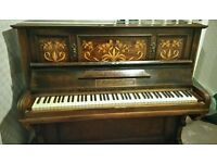 Antique R. Gors and Kallmann Berlin Wood Inlaid Piano