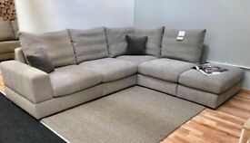 Great L-Shape sofa for ** SALE ** with FEATHERS FILLING seating & back cushions GOOD DEAL!!