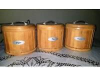 Set of wooden Cofee,Tea,Sugar storage