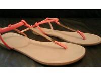 Next orange and gold sandals