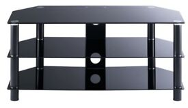 TV stand black and silver in good condition C£50 when new