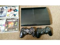 Ps3 with 2pads and games