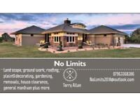 No Limits ground and building works also gardening services and much more
