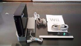 Black Nintendo Wii Console Fantastic Condition