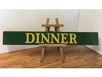 Old Retro Painted Metal Dinner Sign
