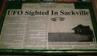Sackville,NB - UFO sighted,newspaper report with picture-mounted