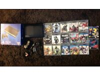 Playstation 3 Super Slim Black 500GB with 17 games & Controller Very Good Condition Boxed