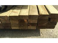 """🌲Wooden 4""""x 2""""X 4.2M Tanalised Lengths/Rails -New-🌲"""