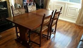 Dining table with chairs (Old charm )