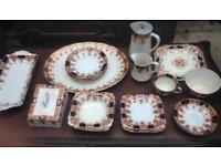 Carlisleware Burgess Bros 25 Piece Bone China Tea Service Set