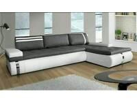 New modern high quality corner sofa bed Gal 1, Amk Furniture , Double bed Polskie Narozniki