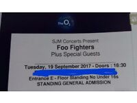 Foo Fighters @ The 02 Arena Tonight x 2 Standing