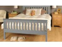 Grey Pine Double Bed