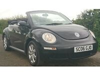 VW Beetle Convertible 2.0 Full Heated Leather, Power Roof Only 44000 Miles with full service history