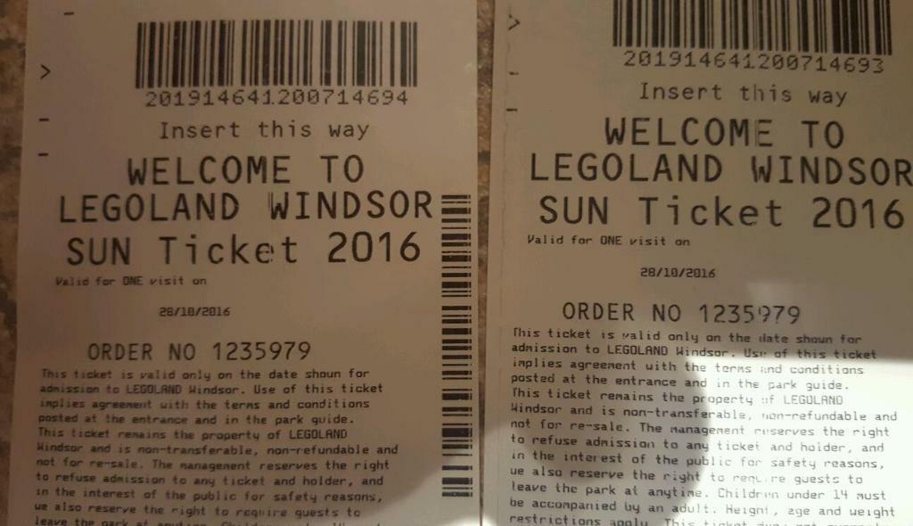 Lego land tickets