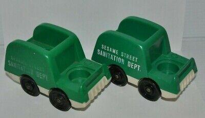 lot of 2 Fisher Price Little People FPLP Sesame Street Sanitation Dept. TRUCK