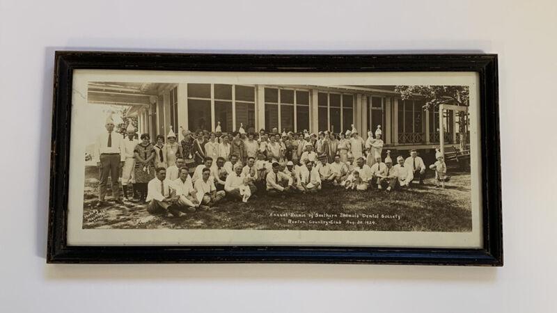 Antique Photo Southern Illinois Dental Society Picnic Photograph Benton 1924 Art