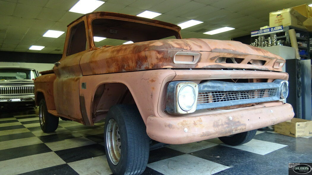 1964 Chevrolet C-10  1964 Chevrolet C-10 roller project shorbed stepside pickup truck Texas w title