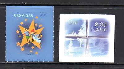 ESTONIA MNH 2007 SG560-561 CHRISTMAS