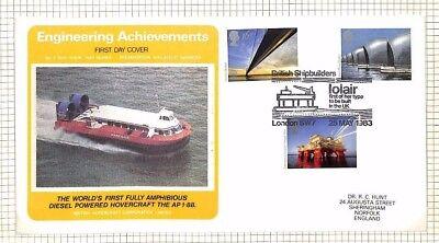 AX189 1983 GB HOVERCRAFT Commemorative FDC Engineering Achievements