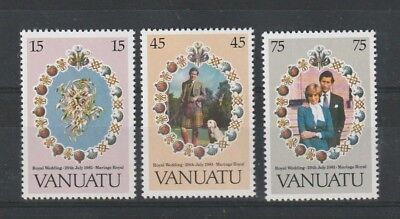 VANUATU 1981 ROYAL WEDDING SET OF ALL 3 COMMEMORATIVE STAMPS MNH