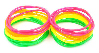 New High Quality 24 Piece Neon Colored Jelly Bracelets #B1008-24 - Neon Bracelets