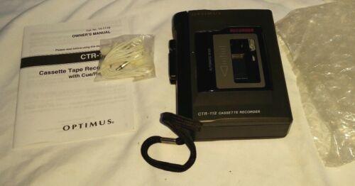 Vintage Optimus Cassettes Tape Recorder CTR112 Radio Shack .