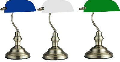 Classic Traditional Bankers Lamp W Antique Brass Style Desk Office Table Lamps ()