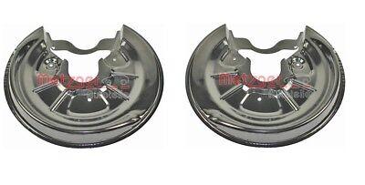 Car Parts - REAR PAIR BRAKE DISC SPLASH GUARD DUST COVERS FOR A3 ALTEA LEON OCTAVIA GOLF MK5