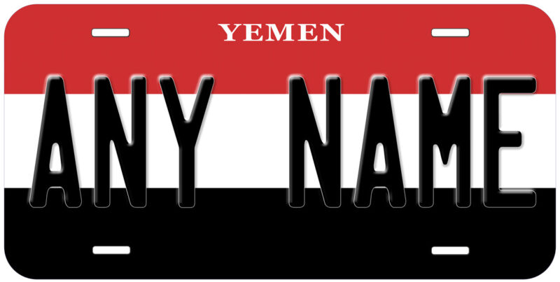 Yemen Flag Personalized Any Text Novelty Car License Plate