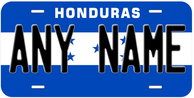 Honduras Flag Any Name Personalized Novelty Car Auto License Plate