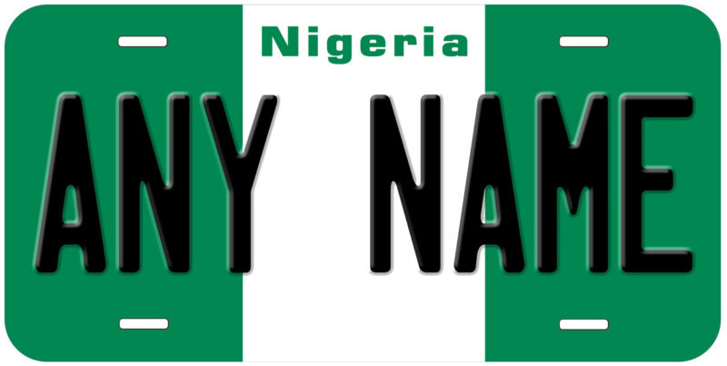Nigeria Flag Any Name Personalized Novelty Car License Plate