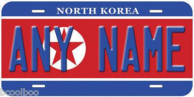 North Korea Flag Any Text Personalized Novelty Car License