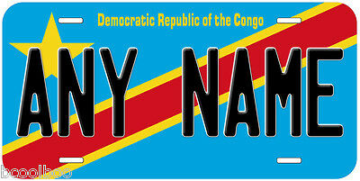 Democratic Republic of the Congo Flag Personalized Novelty Car License Plate