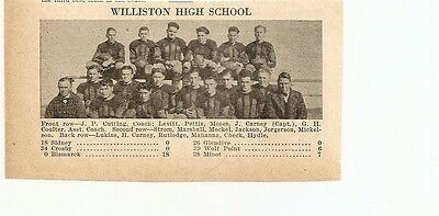 Williston North Dakota 1929 Football High School Team Picture