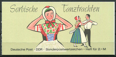 National Costume Of Germany (Democratic Republic of Germany 1971 Mi. MH 5 Ia Booklet 100% national)