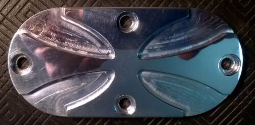 3D CNC MACHINED POLISHED CROSS PRIMARY INSPECTION COVER  FOR HARLEY DAVIDSON