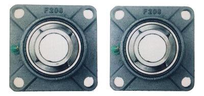 2x Flange Bearing Ucf 208-24 1-12 Square 4 Bolt