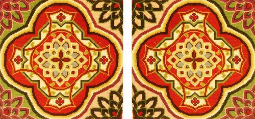 Pair of Antique Needlepoint Pillowcase