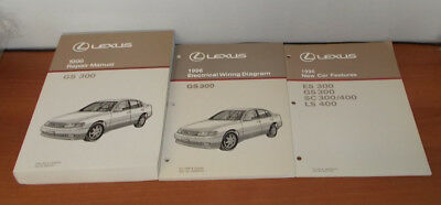 NEW 1996 LEXUS GS300 REPAIR MANUAL ELECTRICAL WIRING DIAGRAM NEW CAR FEATURE