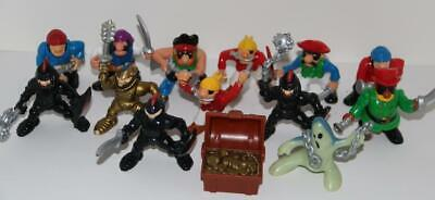Vintage Fisher Price Imaginext Great Adventures Knights Pirate LOT 13 FREE SHIP!