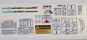 david brown warning + arm stickers / decals