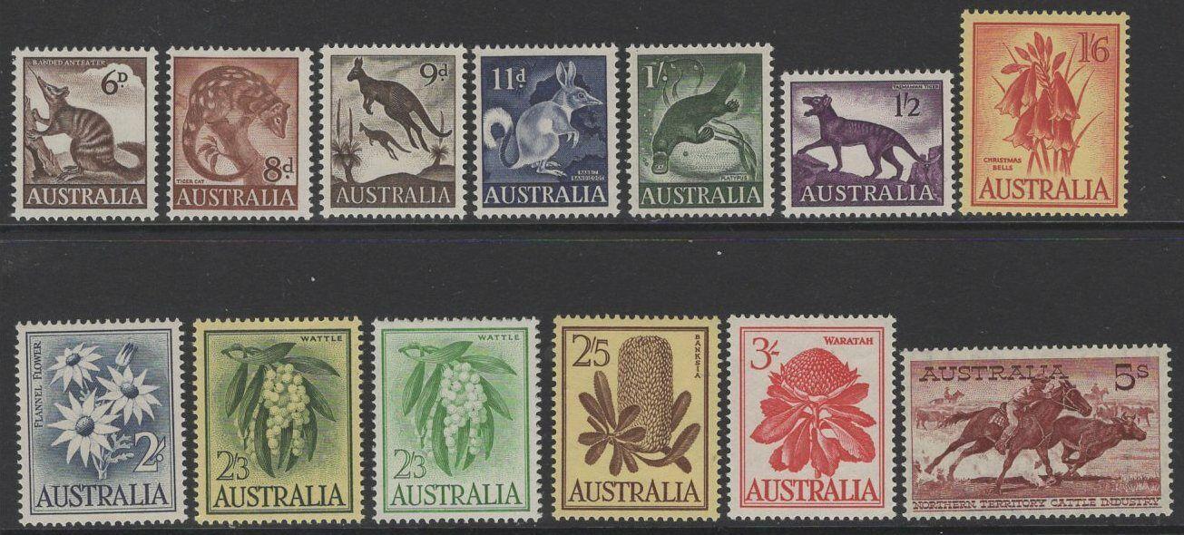 AUSTRALIA SG316/27 1959-64 DEFINITIVE MNH