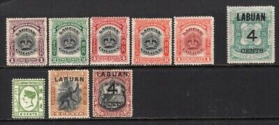 Labuan Group of 9 Mint Stamps CV$106