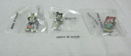Set of All 3 Vintage Animaniacs Enamel Pins Buttons Pinbacks Yakko Wakko Dot BIN