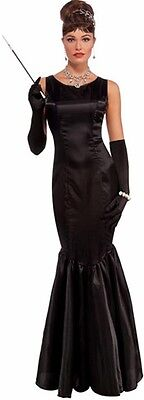 Breakfast At Tiffanys Hollywood High Society Blk Poly Satin Mermaid Style Gown  - Breakfast At Tiffanys Costume