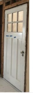 Solid wood antique exterior door