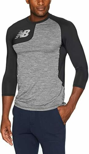 Medium New Balance Asym 2.0 Baseball Top RHT MT83704R - Black - M