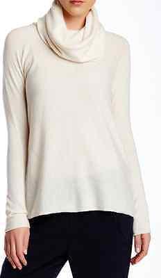 Winter White Cashmere (Vince NWT $325 Cashmere Cowl Neck Sweater Winter White XXS)